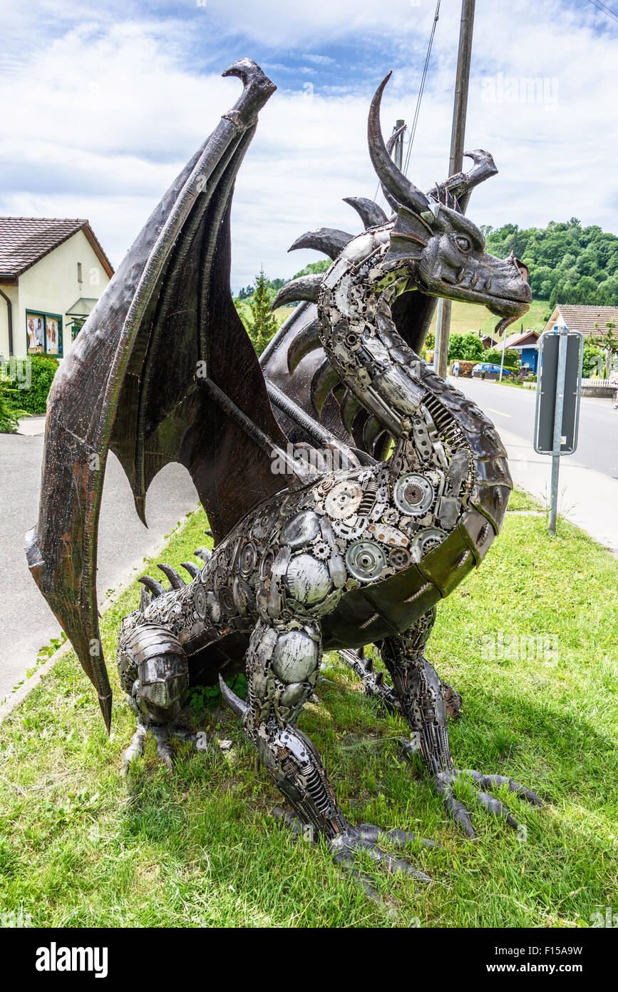 Swiss Dragons Made From Recycled Auto Parts Near