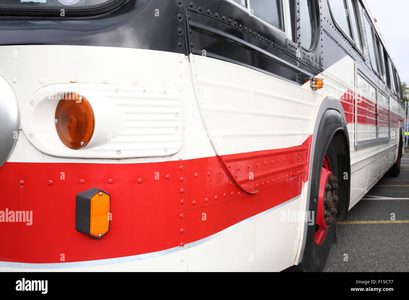 General motors fishbowl bus - Stock Image