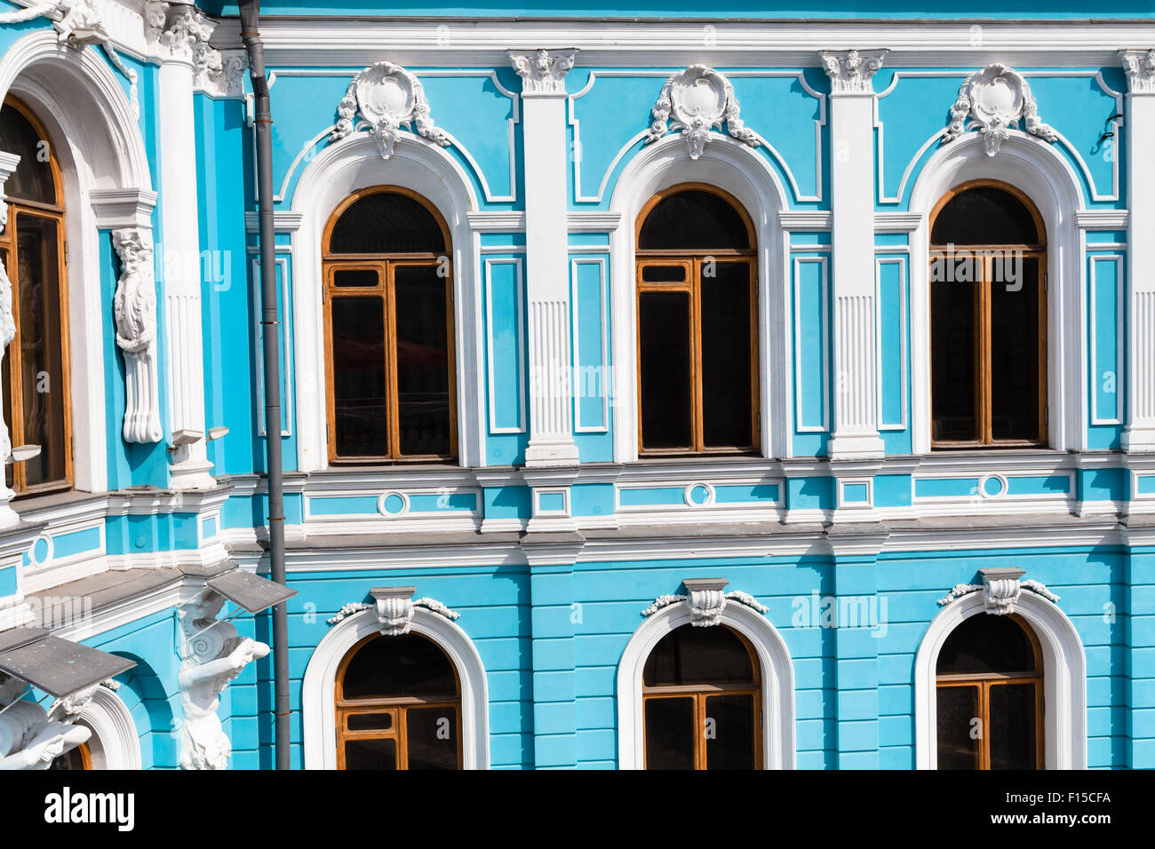 old Moscow urban architecture - 17th-century mansion in the style of classical baroque Stock Photo