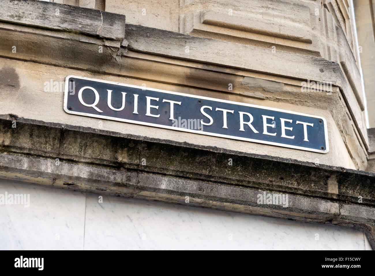 Quiet Street, Bath, Somerset, England, UK - Stock Image