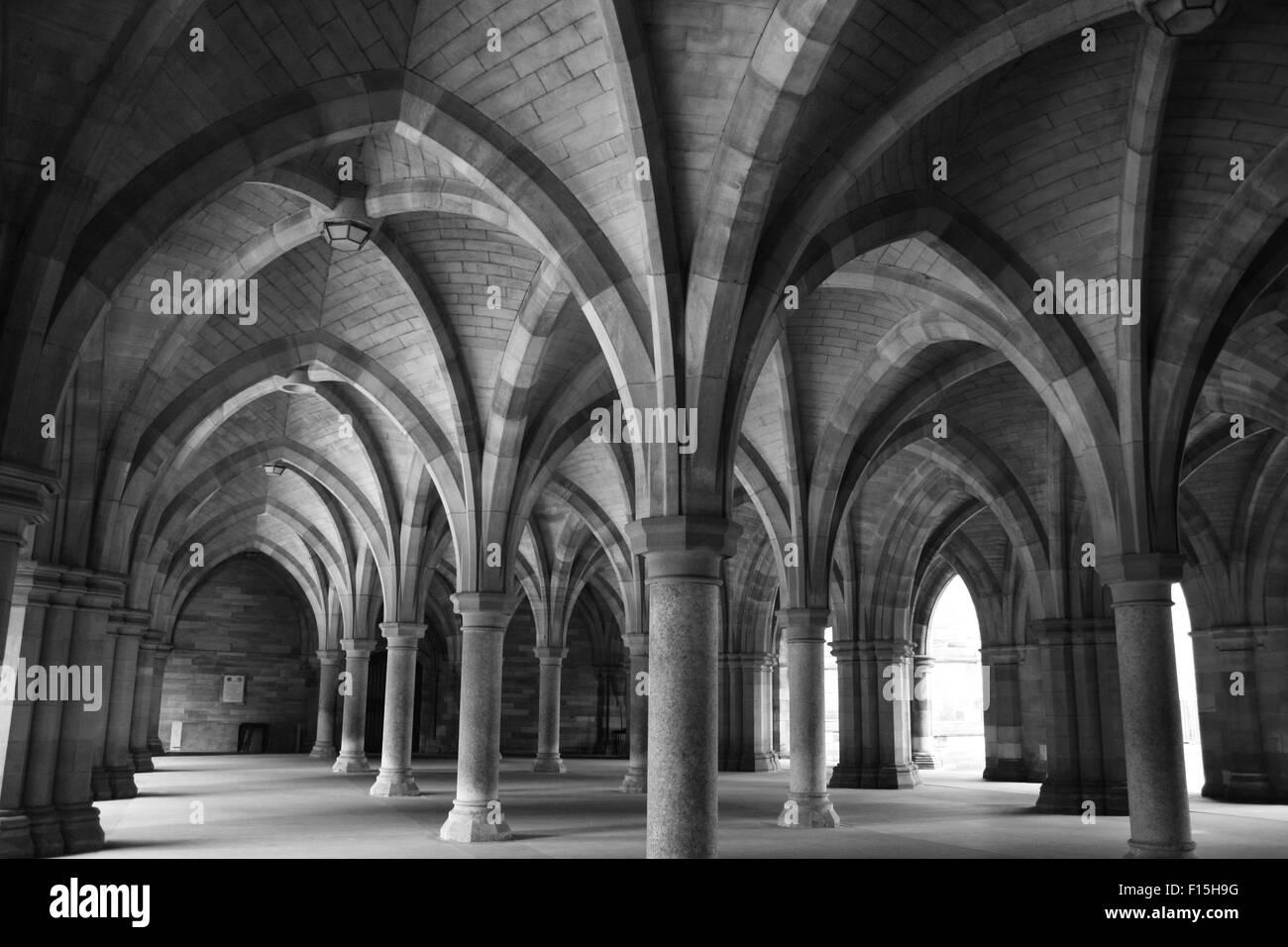 Glasgow University Cloisters - Stock Image