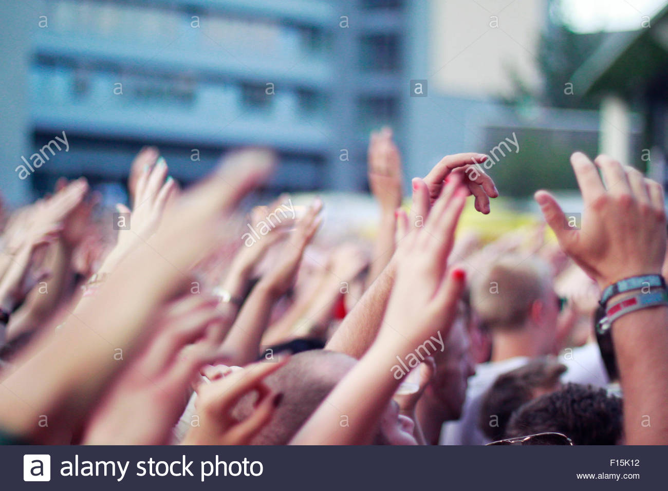 Audience at an Open-Air - Stock Image