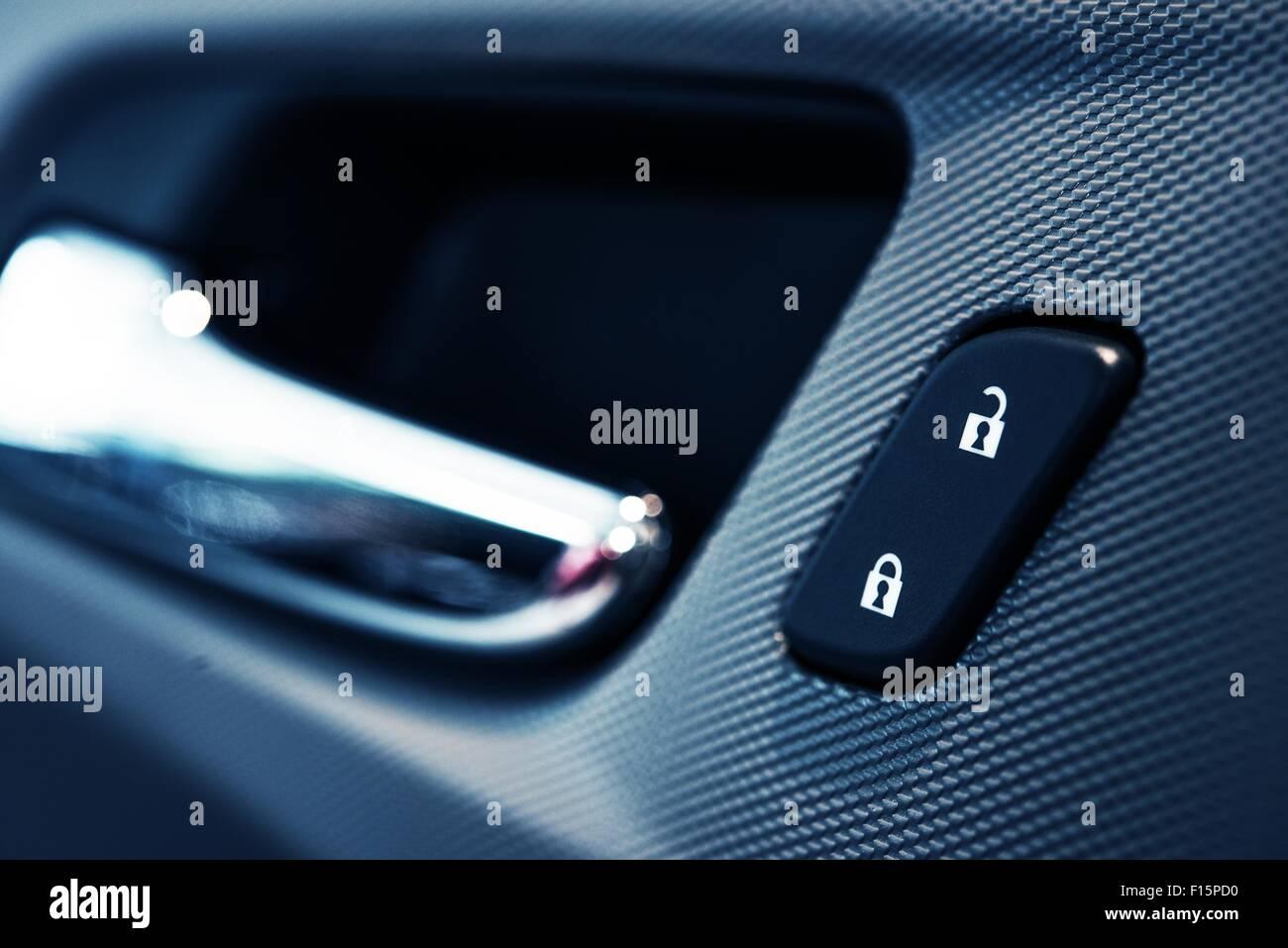 car door lock button closeup electric locking in modern car lock car door7 car