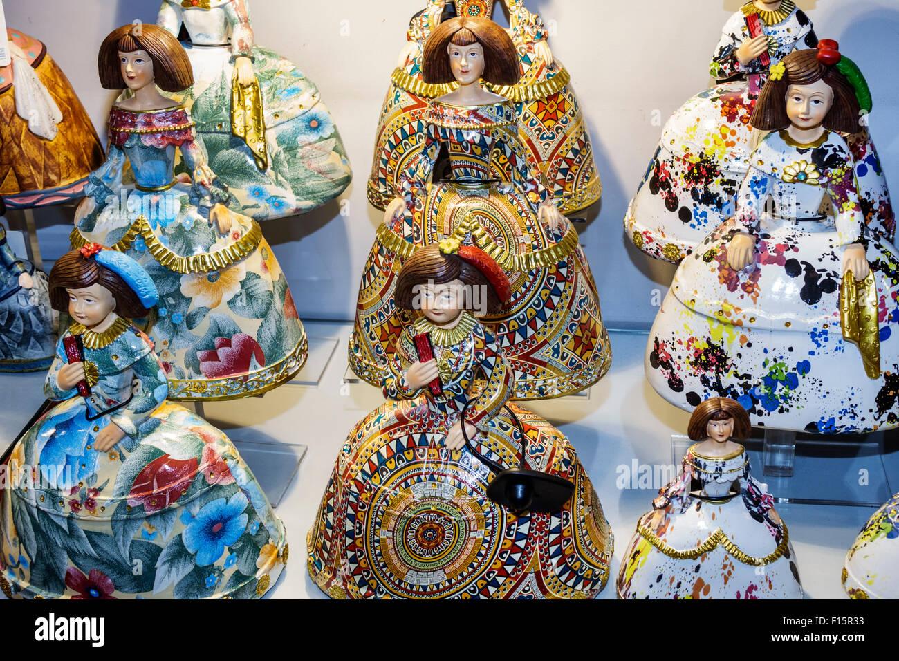 Madrid Spain Europe Spanish Centro Retiro Paseo del Prado store Objetos de Arte Toledano gift shop souvenirs shopping Stock Photo