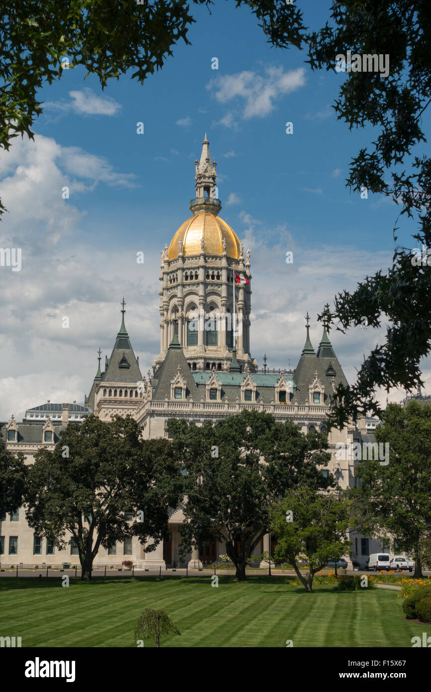 Connecticut state capitol building Hartford - Stock Image