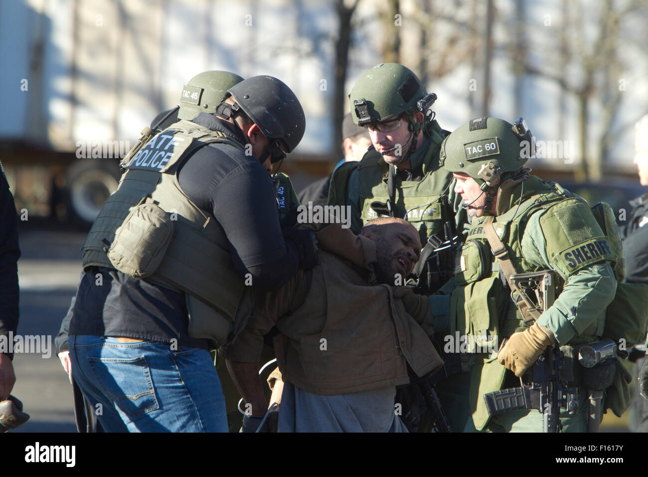 King Of Swat Stock Photos Images Alamy Store Law Enforcement Activity Burien Washington Standoff At Sporting Goods December 2