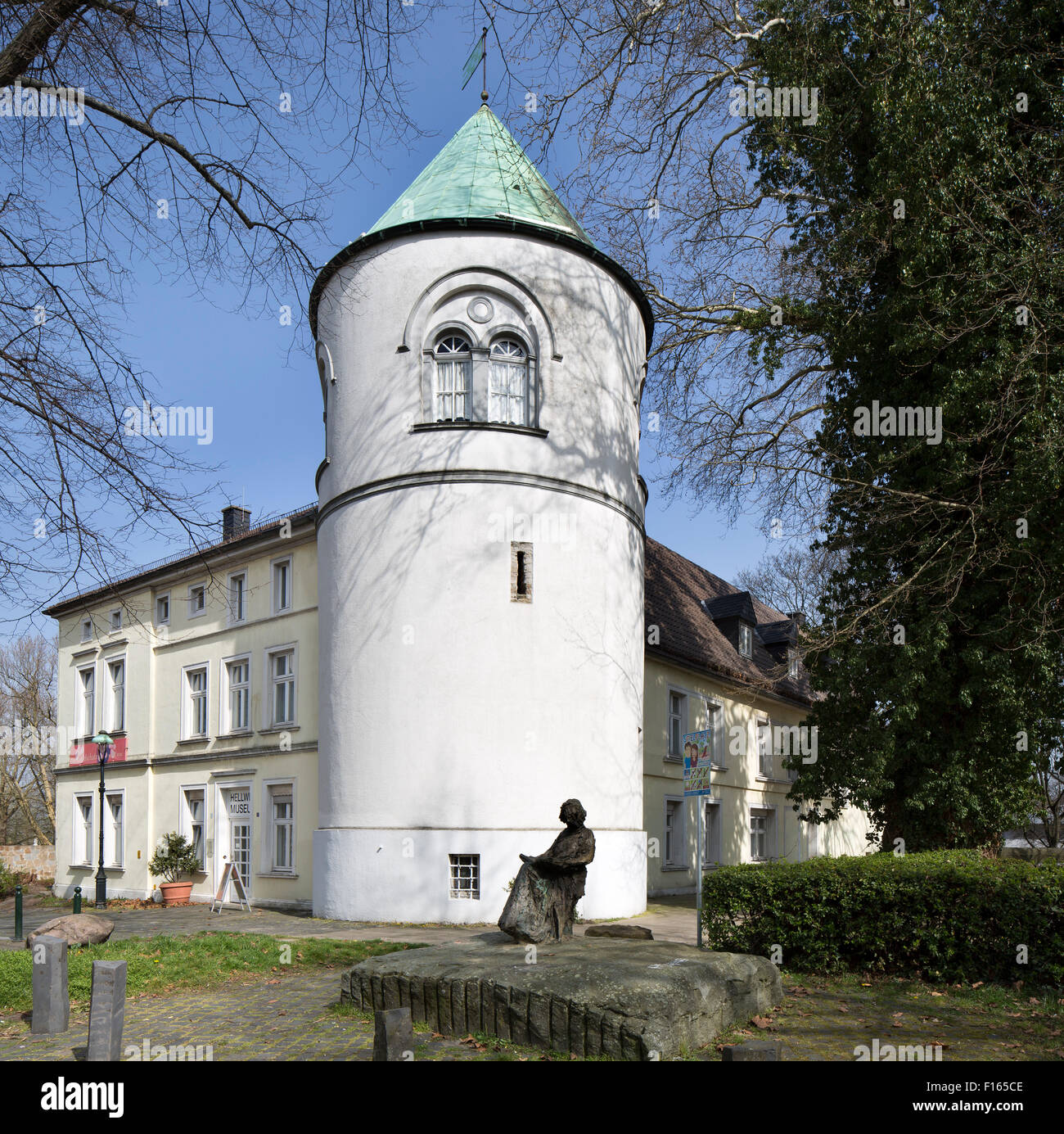 Former Burg Unna castle, now the Hellweg Museum, Unna, Ruhr district, North Rhine-Westphalia, Germany - Stock Image
