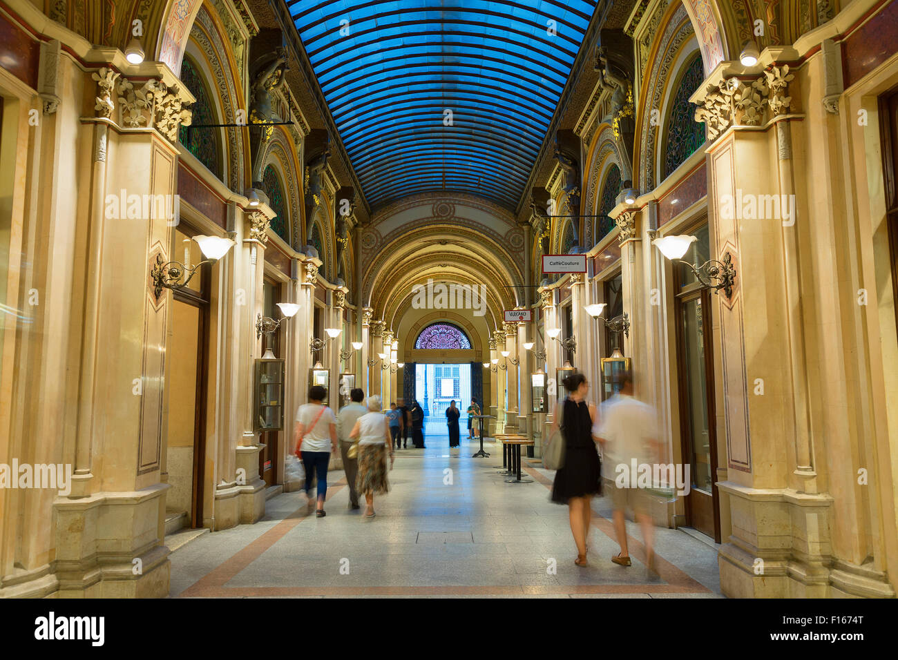 Vienna, Palais Vienna, Palais Ferstel arcade arcade - Stock Image