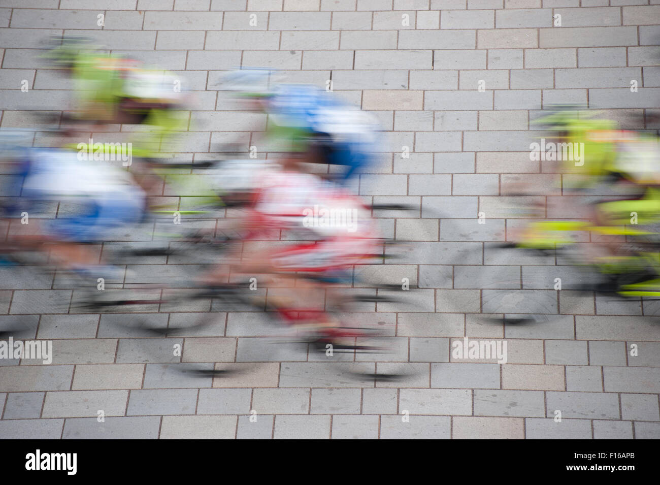 road bicycle racing, motion blur effect - Stock Image