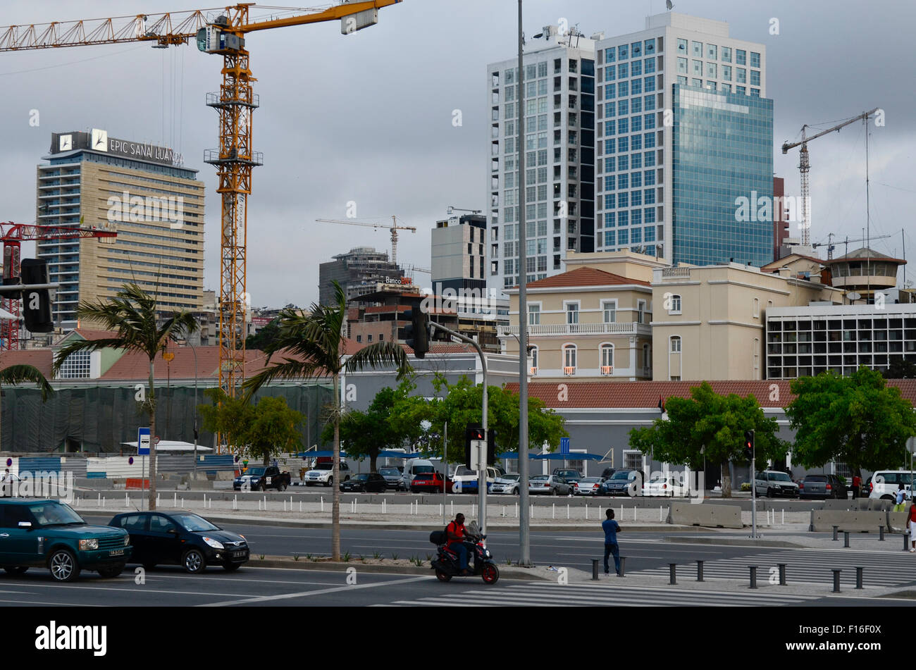 ANGOLA Luanda, sea promenade, due to revenues from oil and diamond exports a construction boom is seen everywhere - Stock Image