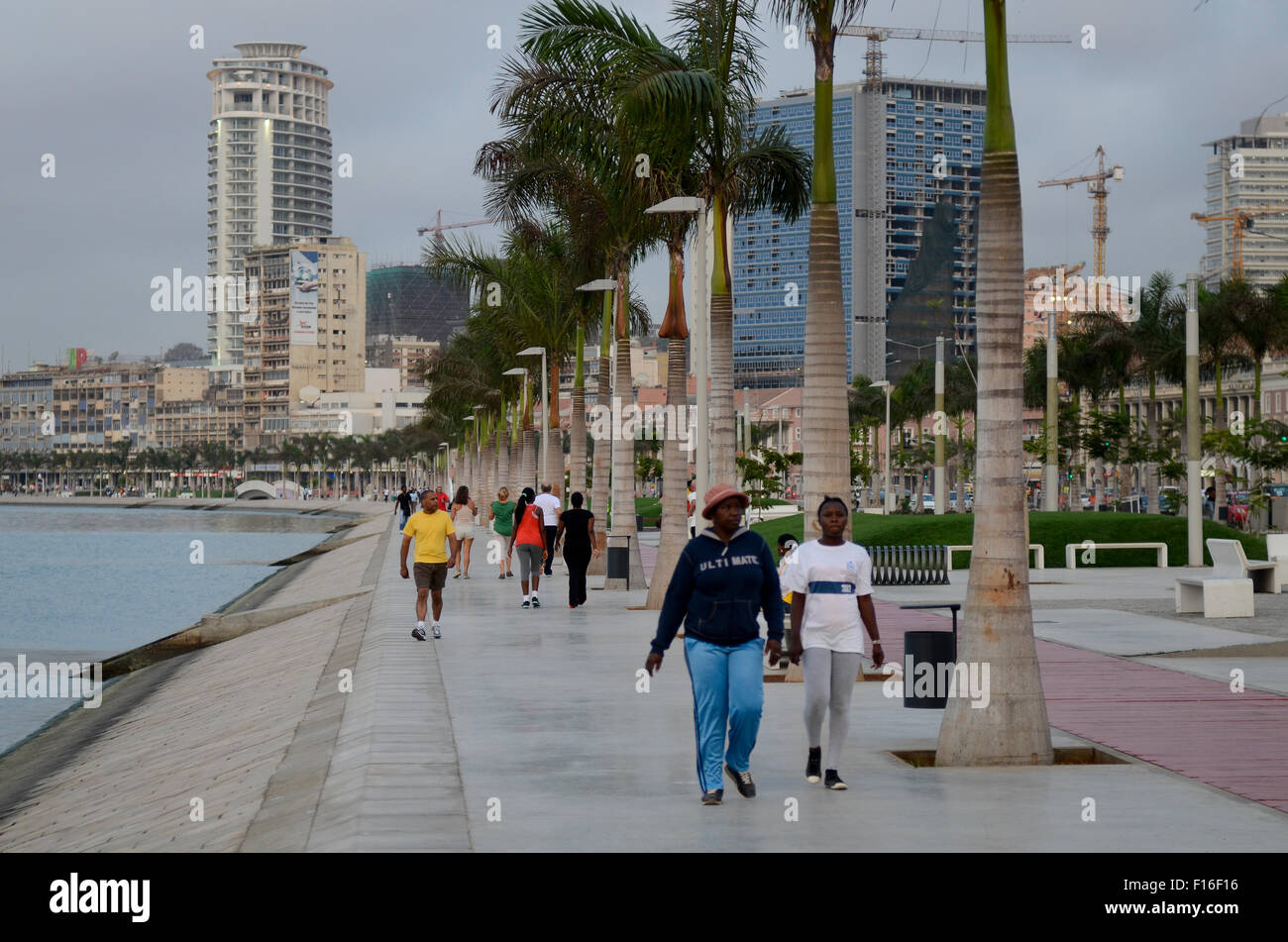 ANGOLA Luanda, sea promenade, due to revenues from oil and diamond exports a construction boom is seen everywhere Stock Photo