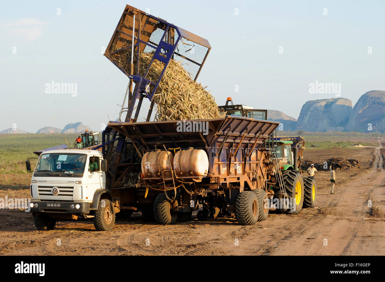 ANGOLA Malange , PAC Pòlo Agroindustrial de Capanda, Biocom Project, joint venture of Brazil company Odebrecht - Stock Image
