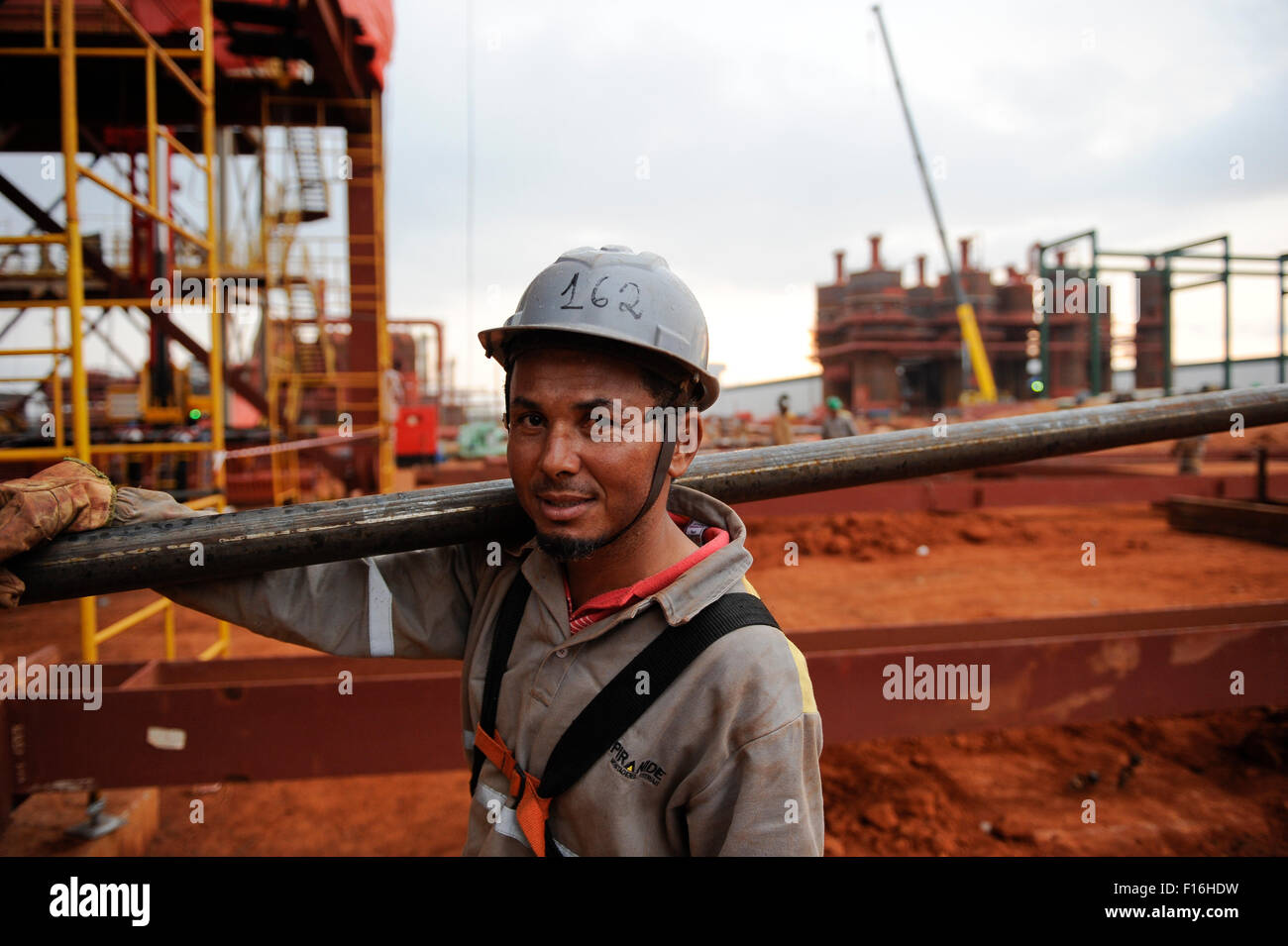 ANGOLA Malange , Biocom Project a joint venture between brazil company Odebrecht and Sonangol, state owned oil company - Stock Image