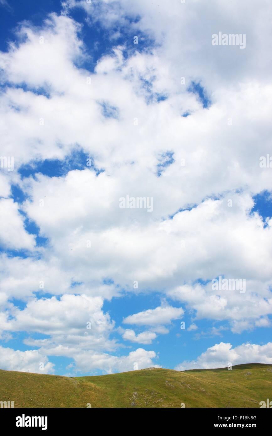 sky horizont in Fagaras mountains in Romania - Stock Image
