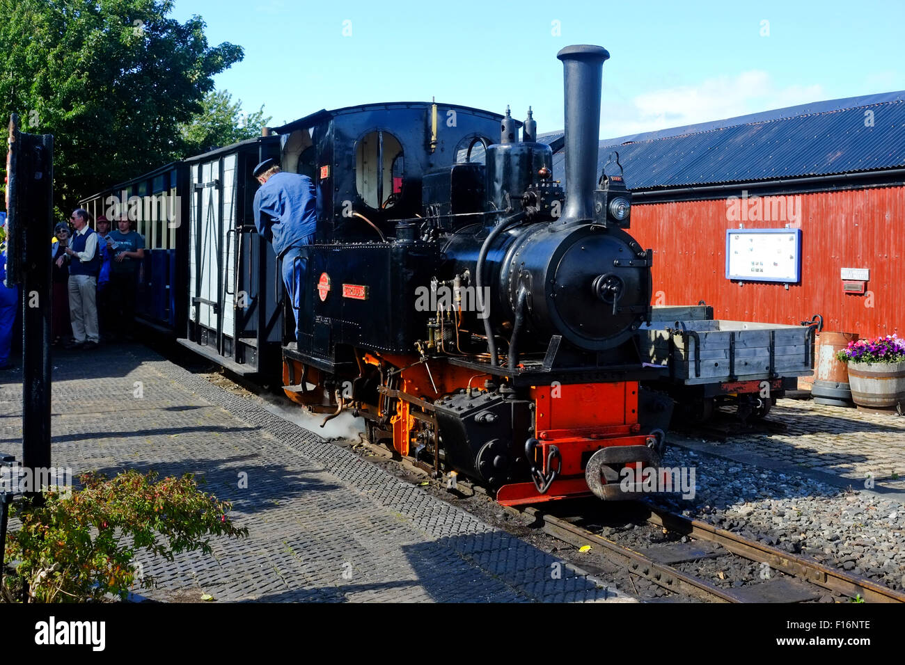 West Lancs Light Railway, locomotive 'Utrillas' - Stock Image