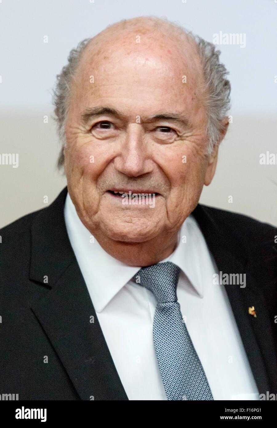 Berlin, Germany, Joseph Blatter in Portrait - Stock Image