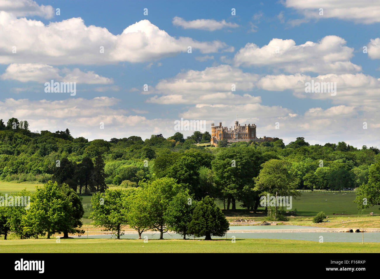 Belvoir Castle in the Vale of Belvoir, Leicestershire, England, UK - Stock Image