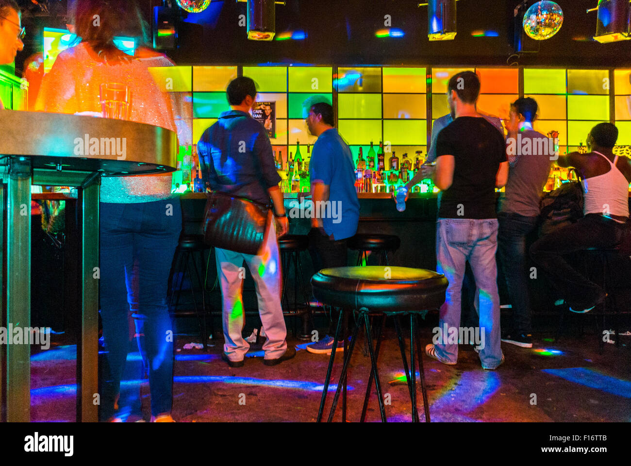 New York City, USA, Inside Views of a Gay Bar, Industry, in Hell's Kitchen Area - Stock Image