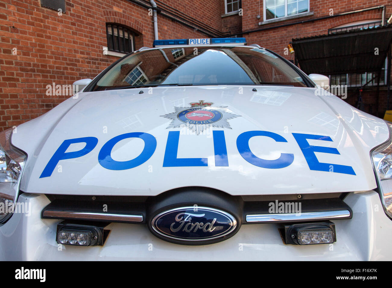A close up of a Police car in England Stock Photo