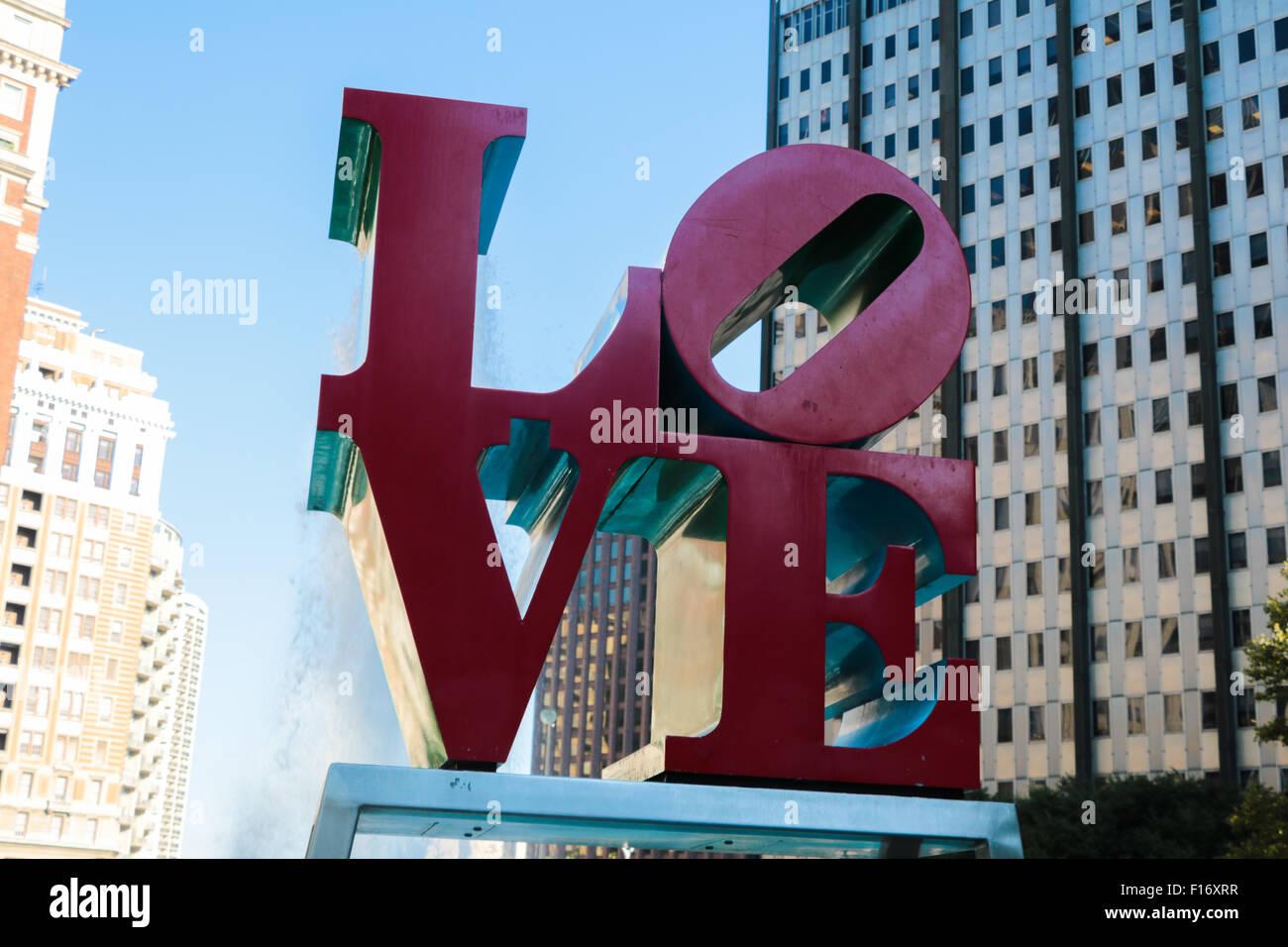 Love Sculpture - Stock Image