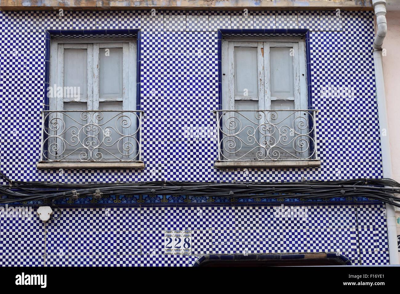 Blue Tiles Facade Stock Photos Blue Tiles Facade Stock Images Alamy