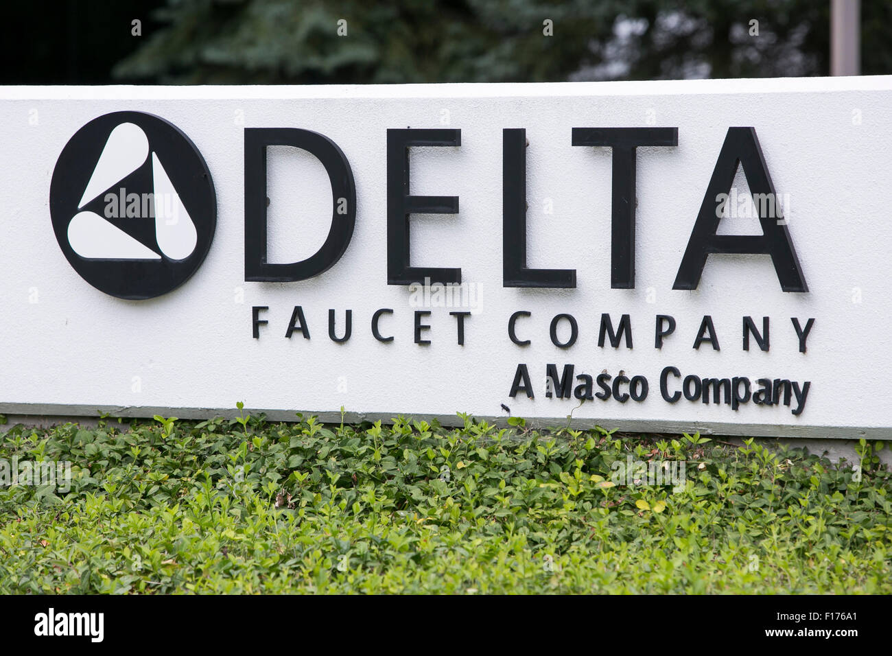 A Logo Sign Outside Of The Headquarters Of The Delta Faucet Company