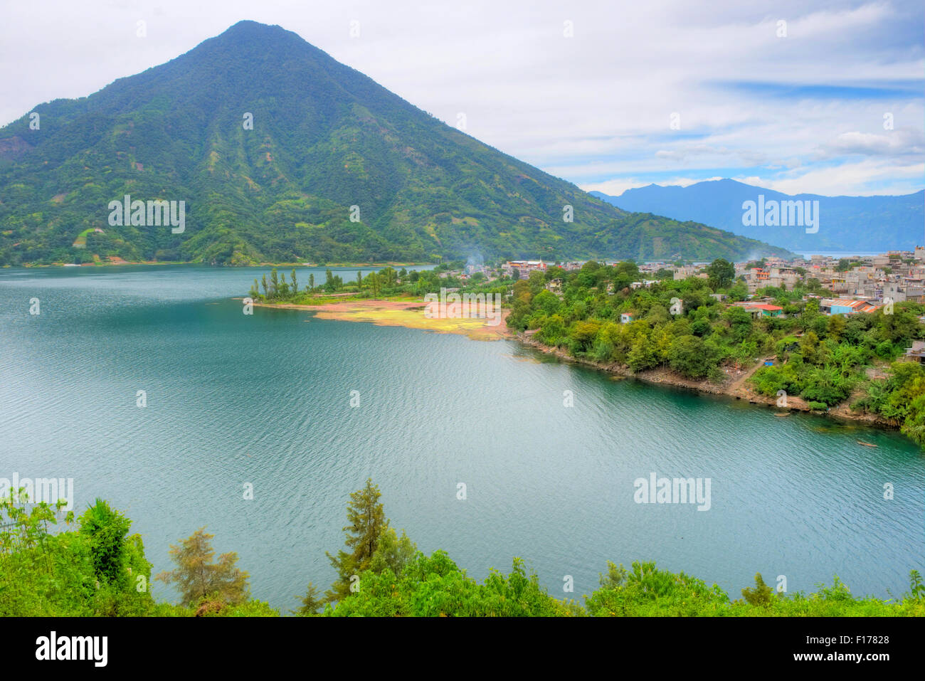 A view of lake Atitlan in Guatemala, Central America. - Stock Image