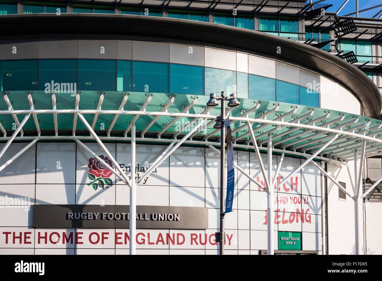 Twickenham Rugby Stadium, London, England, U.K. - Stock Image