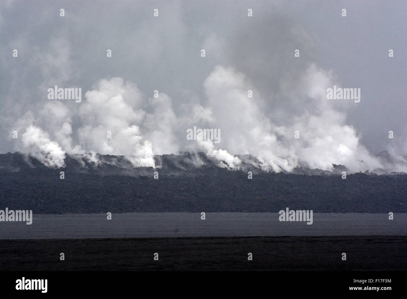 New volcanic lava field  Iceland collection - Stock Image