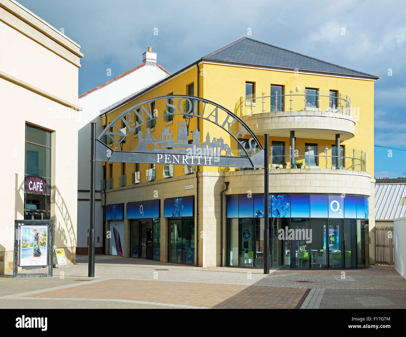 New Squares, a shopping centre in Penrith, Cumbria, England UK - Stock Image