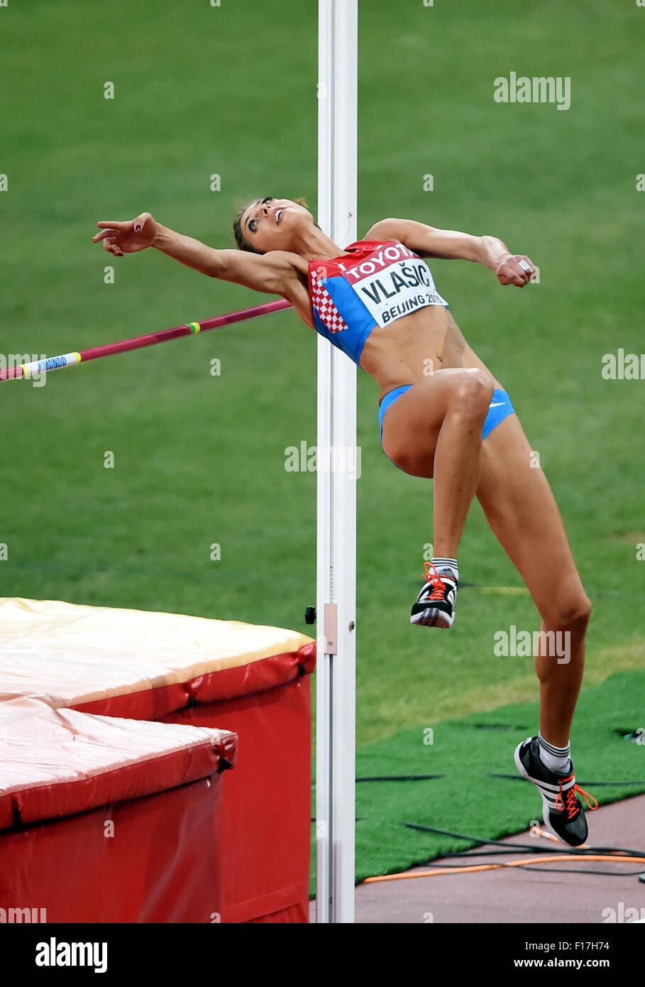Beijing, China. 29th Aug, 2015. Blanka Vlasic of Croatia competes during the women's high jump final at the - Stock Image