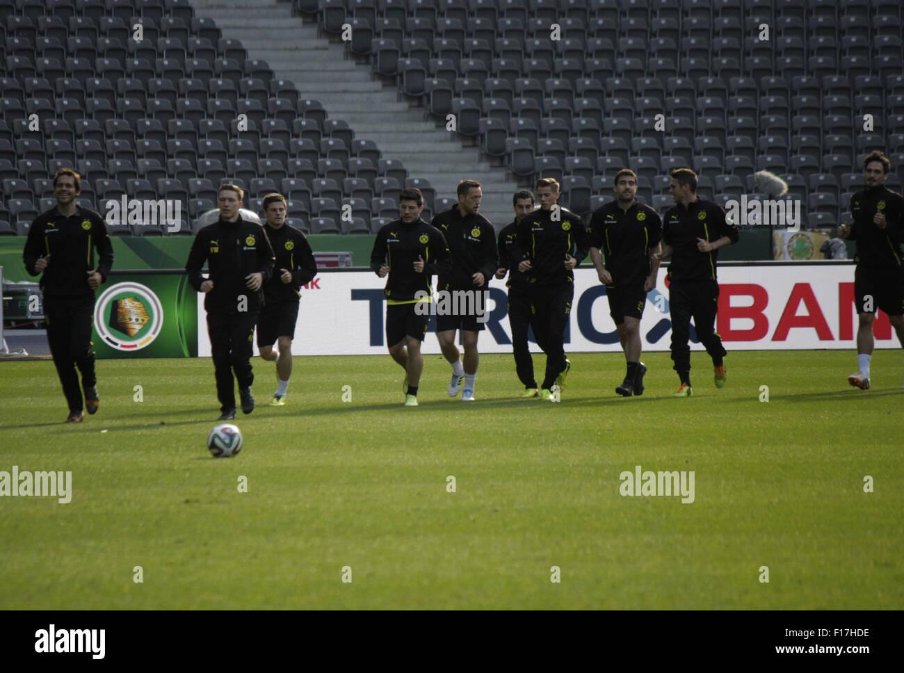 Impressionen - Training von Borussia Dortmund vor dem anstehenden Finale um den DFB-Pokal zwischen Borussia Dortmund - Stock Image