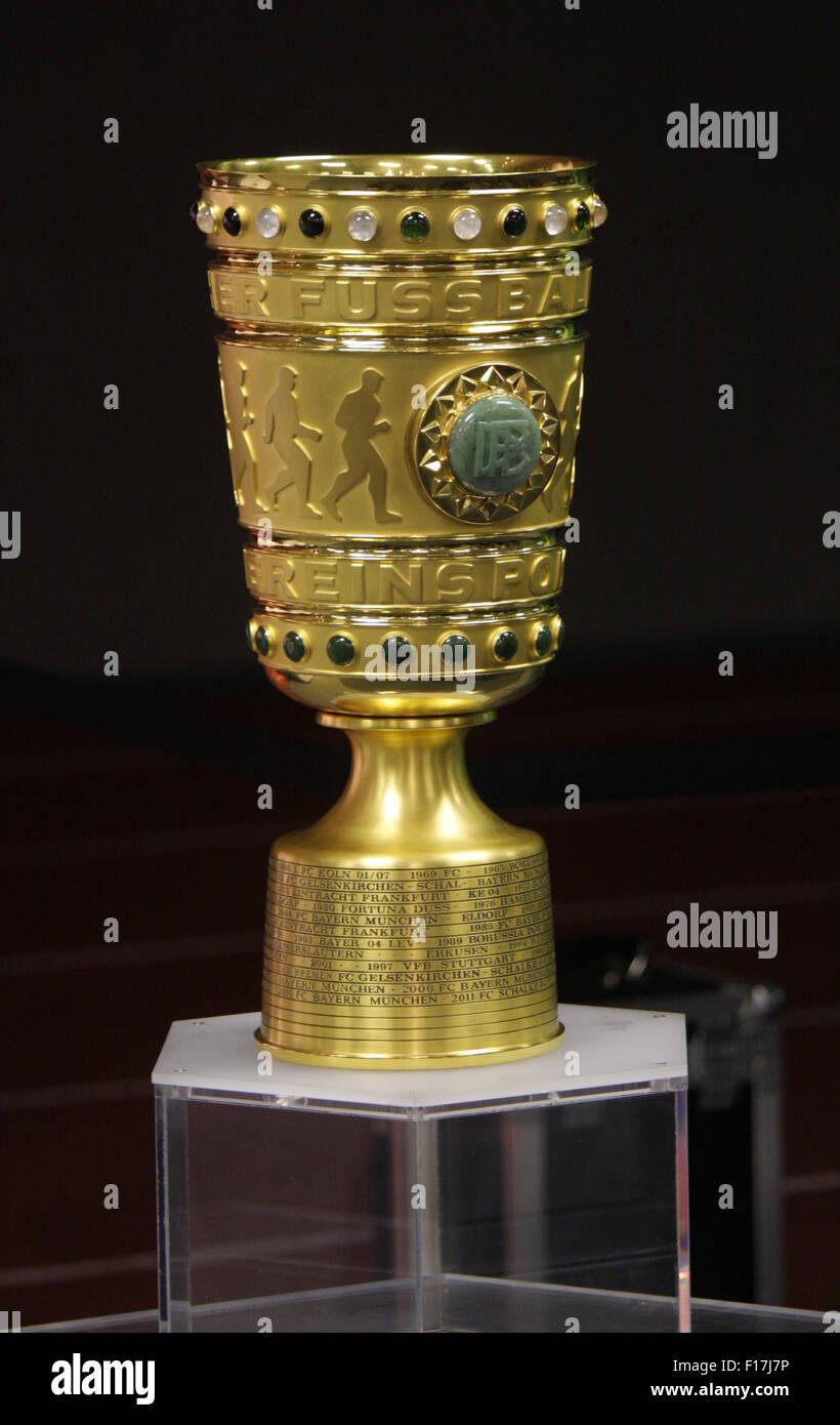 DFB-Pokal - Pressekonferenz zum anstehenden Finale um den DFB-Pokal zwischen Borussia Dortmund und dem FC Bayern Muenchen, Olymp Stock Photo