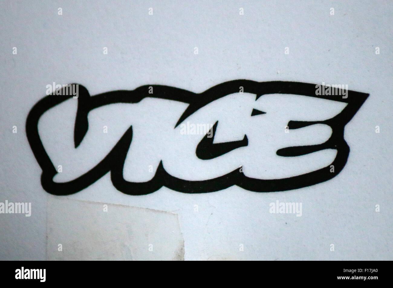 Markennamen: 'Vice', Berlin. - Stock Image