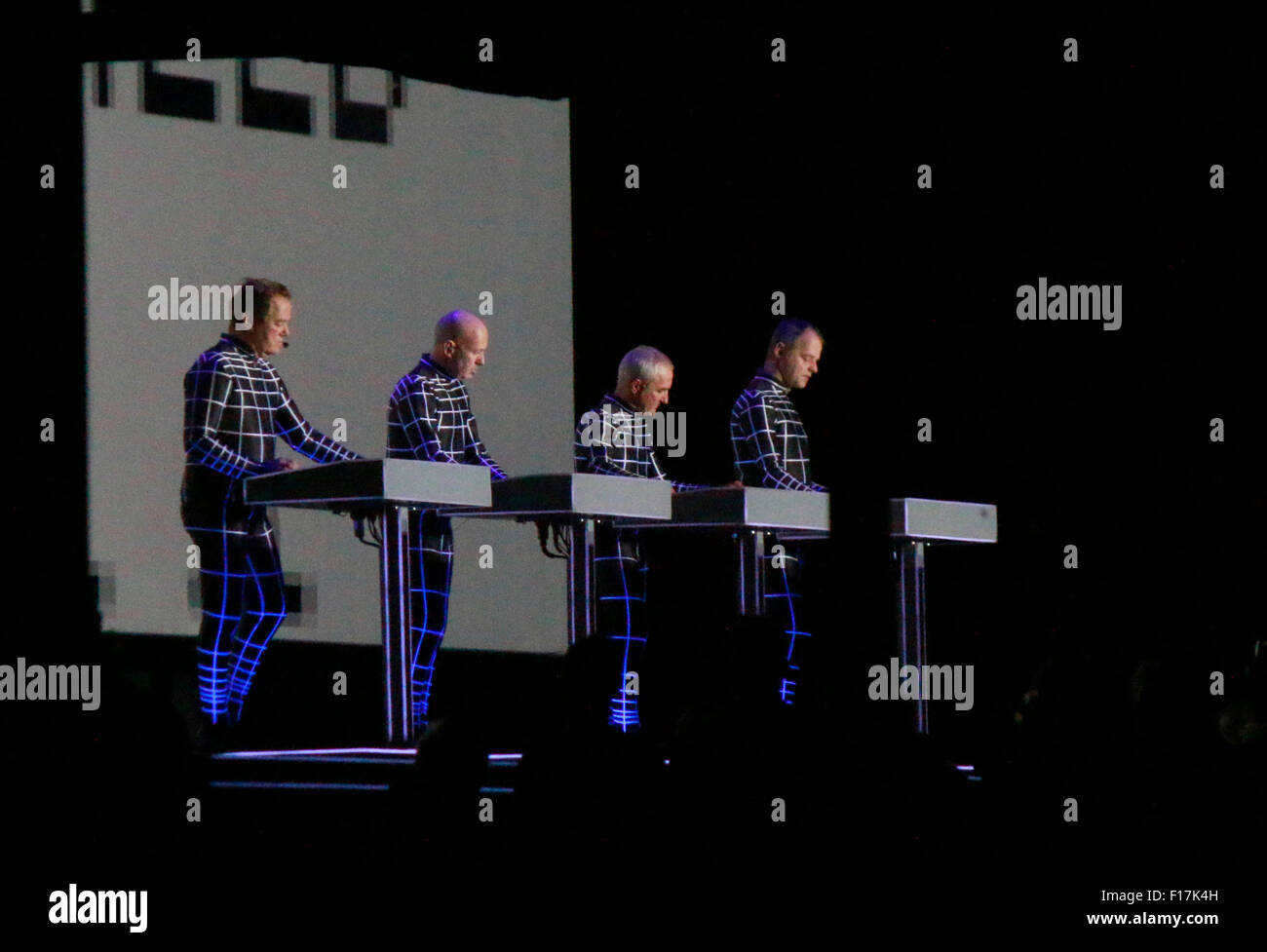 "Konzert der Band ""Kraftwerk"", Neue Nationalgalerie, 8. Januar 2015, Berlin. Stock Photo"