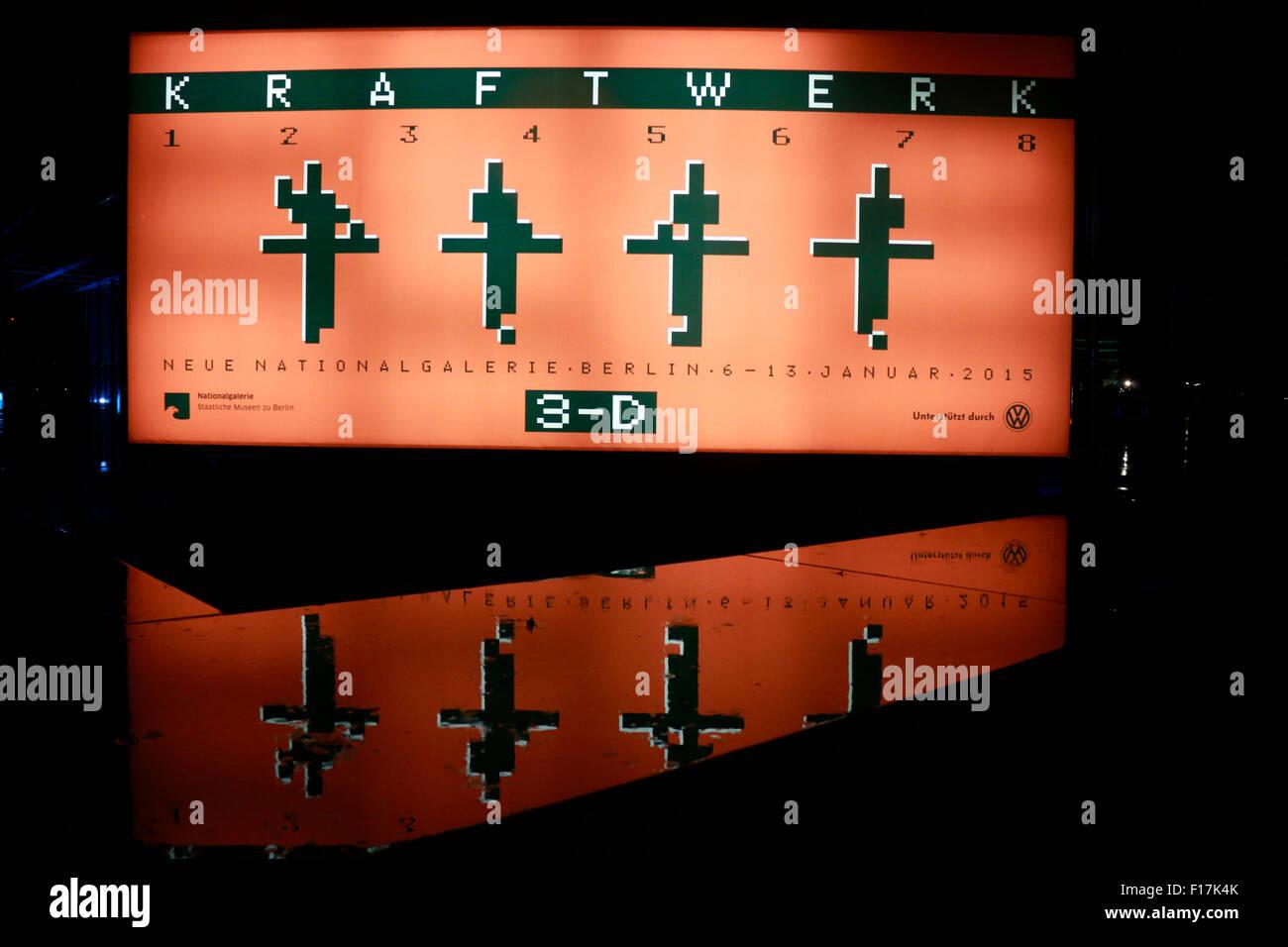 "Konzert der Band ""Kraftwerk"", Neue Nationalgalerie, 8. Januar 2015, Berlin. Stock Photo"