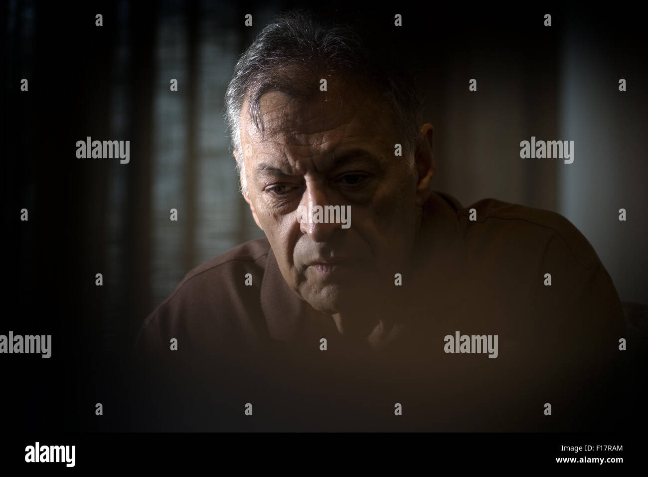 Portrait of Indian conductor Zubin Mehta currently the music director of the Israel Philharmonic Orchestra - Stock Image