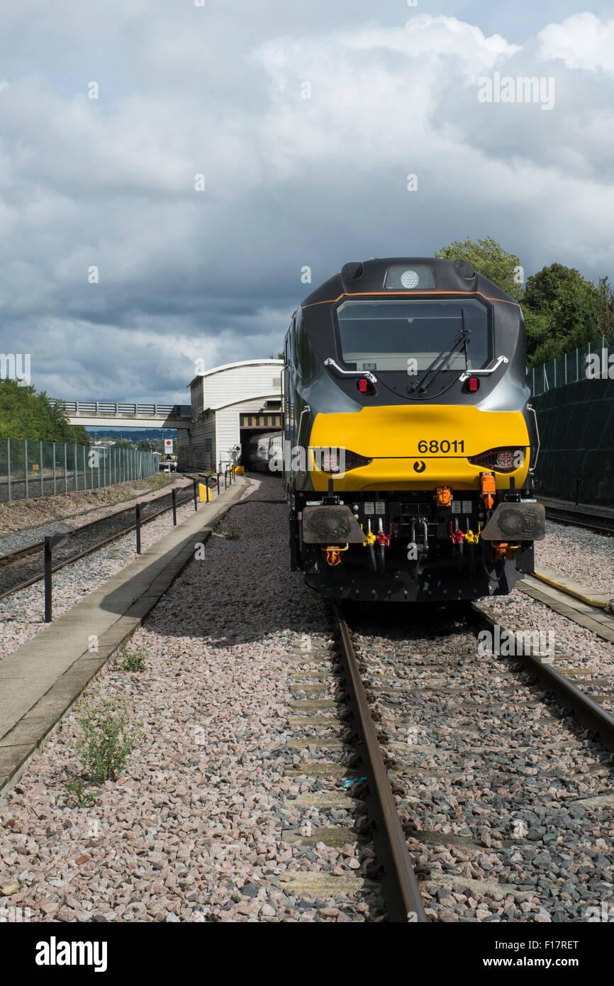 Chlitern Railways 68 class diesel locomotive 68011 at Wembley depot - Stock Image