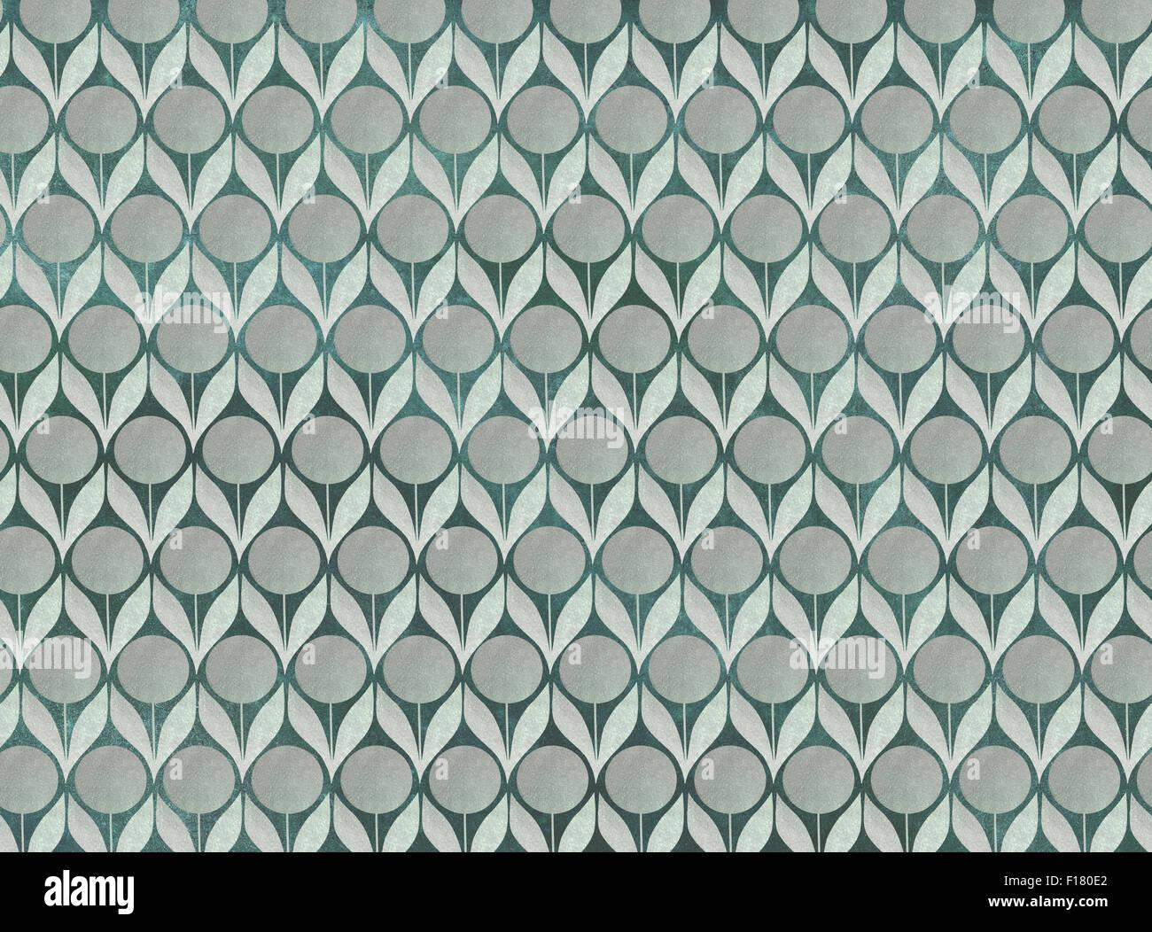 Seamless flower pattern background - Stock Image