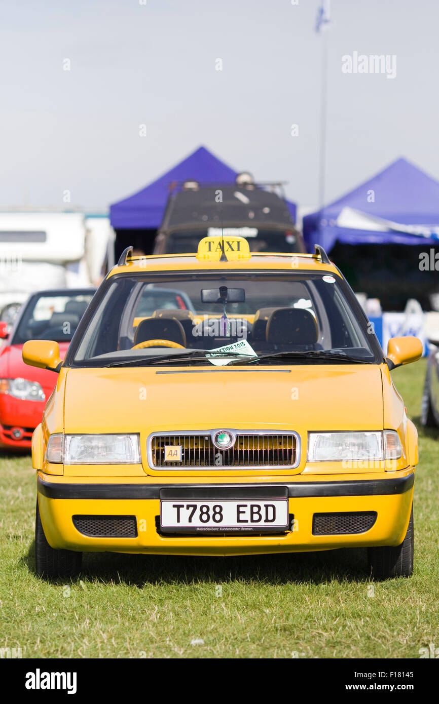 Skoda Taxi Cab Parked In A Show And Shine In England Stock Photo