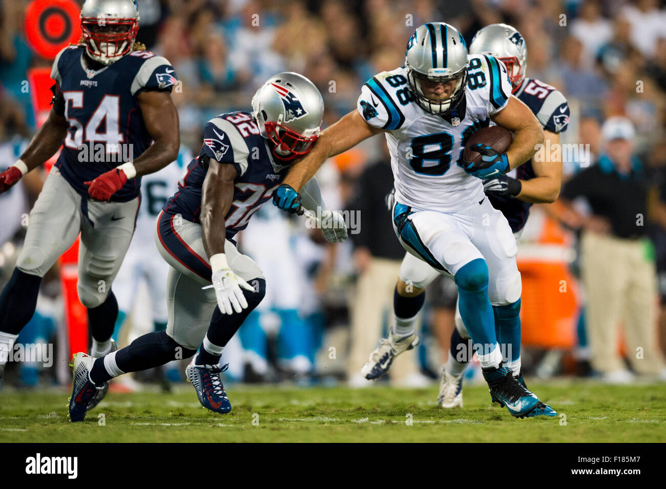 63e7c81b4 Carolina Panthers tight end Greg Olsen (88) during the NFL preseason  football game between the New England Patriots and the Carolina Panthers,  Friday, Aug.
