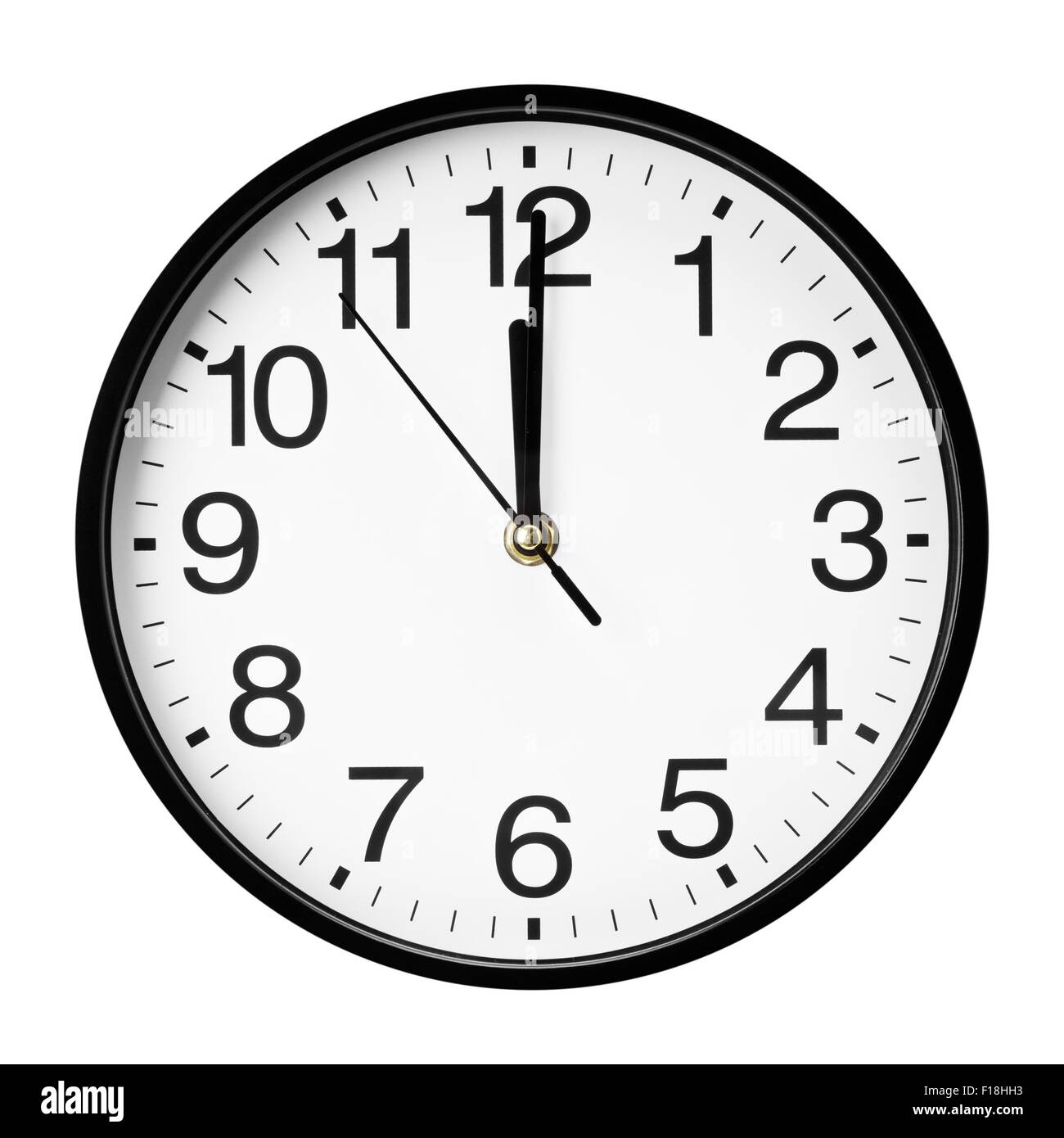 wall clock isolated on white background. - Stock Image