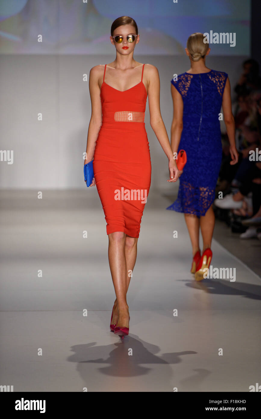 Sydney, Australia. 30th August, 2015. Australia's Next Top Model 2015 winner Brittany Beattie sat front row - Stock Image
