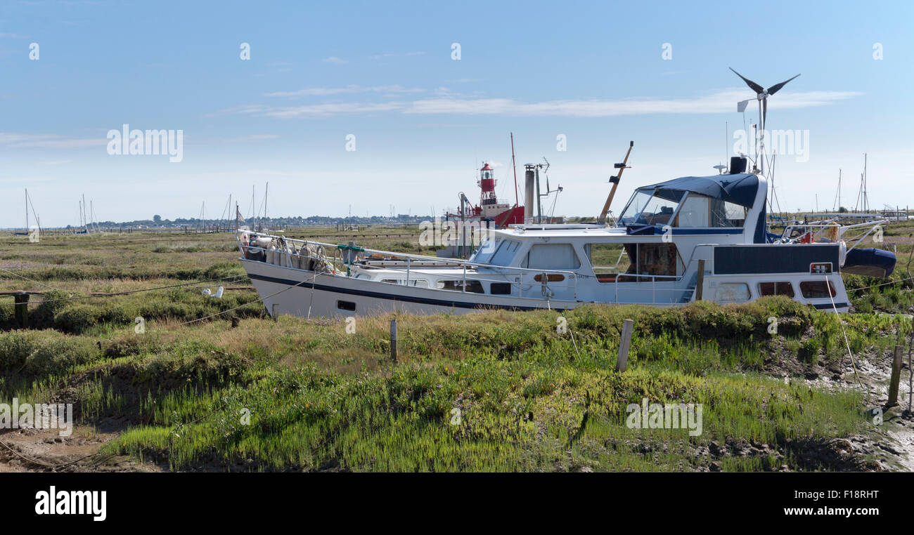Coastal Essex Town of Tollesbury on the edge of Tollesbury saltings Stock Photo