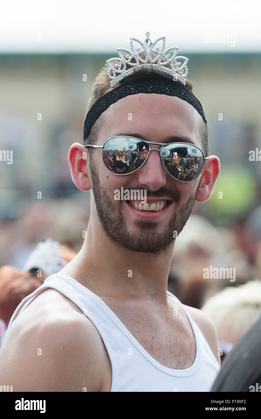 Portsmouth, UK. 30th August 2015. Victorious Festival - Sunday. Warm sunny weather sees festival goers dressing Stock Photo
