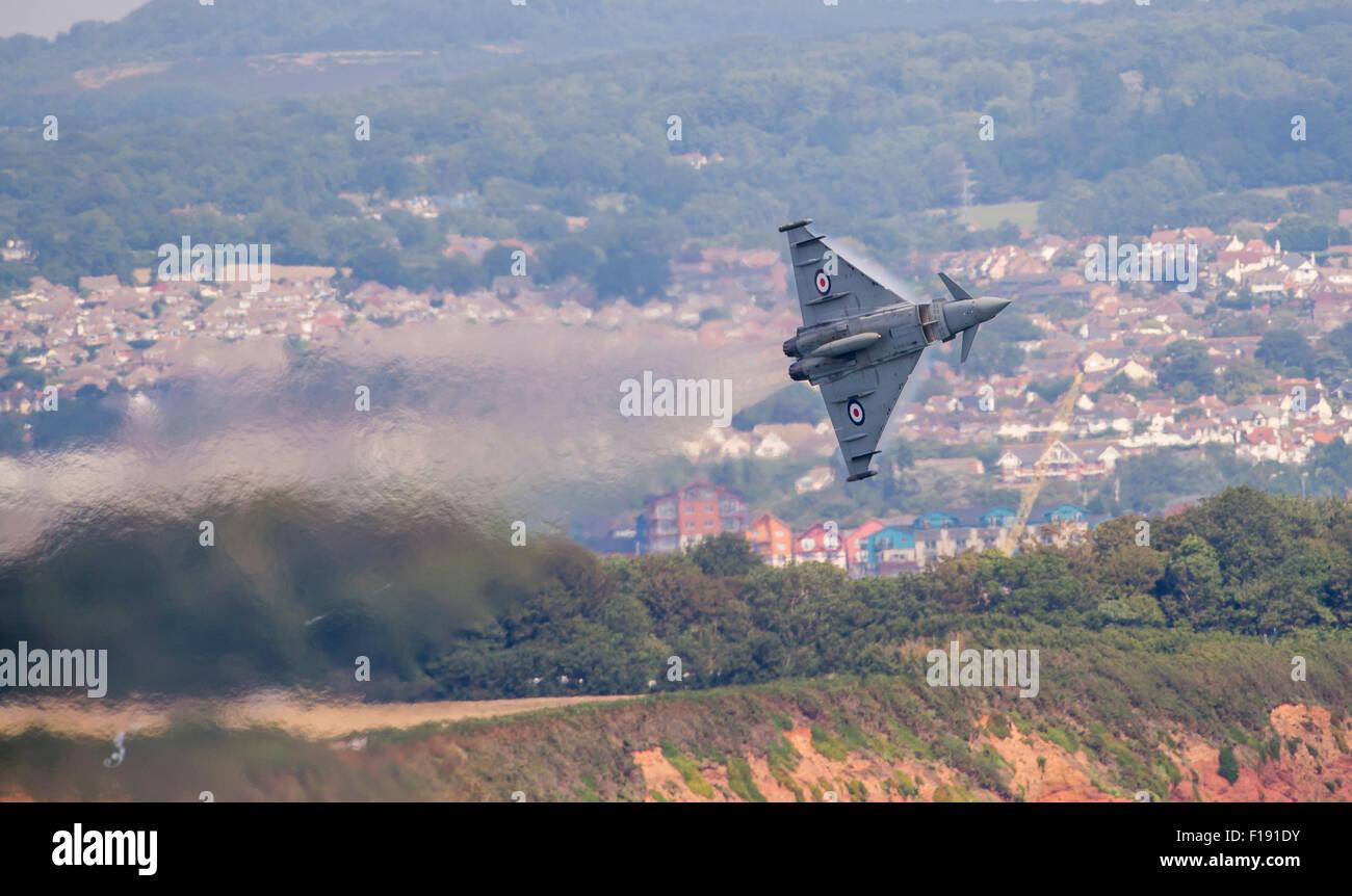RAF Typhoon Display at Dawlish Air Show - Stock Image