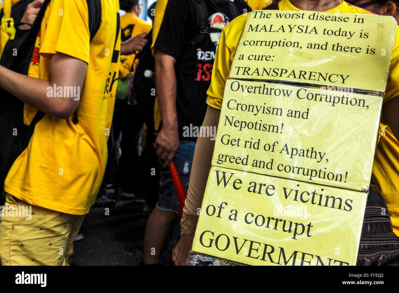 the bersih 4 0 rally in kuala lumpur, malaysia stock photo 86866138