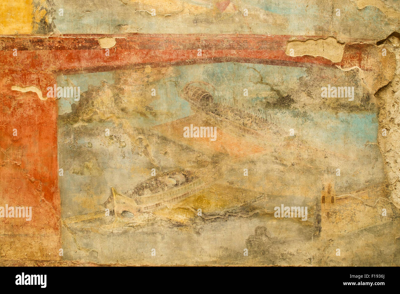Wall Painting In Pompeii Stock Photos & Wall Painting In Pompeii ...