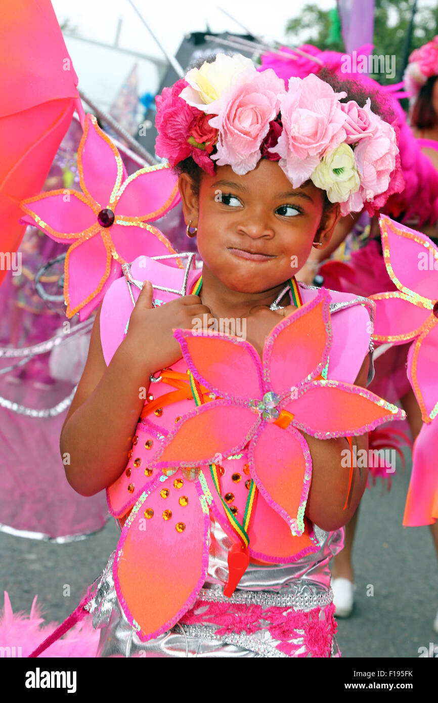 London, UK. 30th August 2015. Participants at the Notting Hill Carnival Children's Day 2015, London Credit: - Stock Image