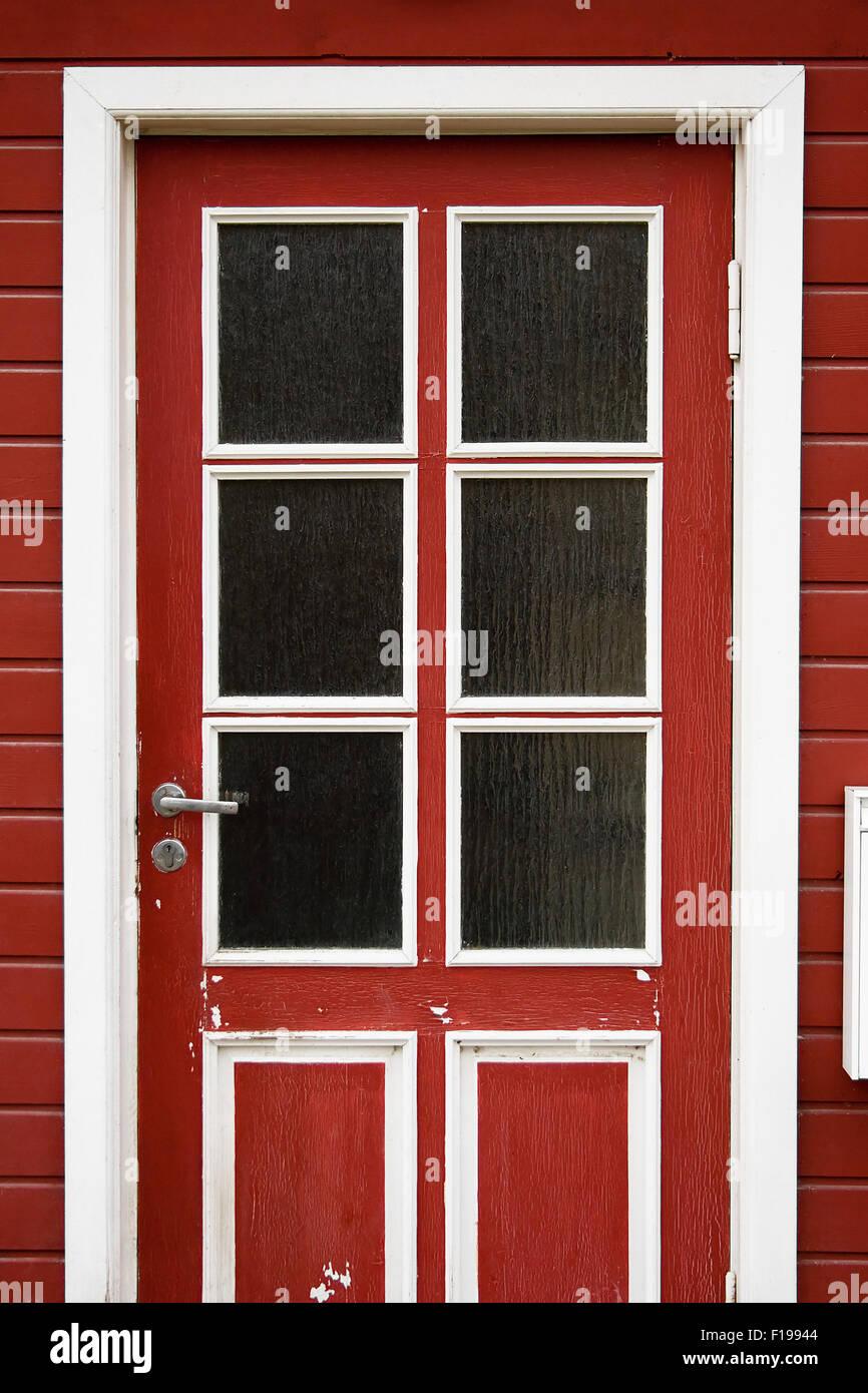 Red door - Stock Image